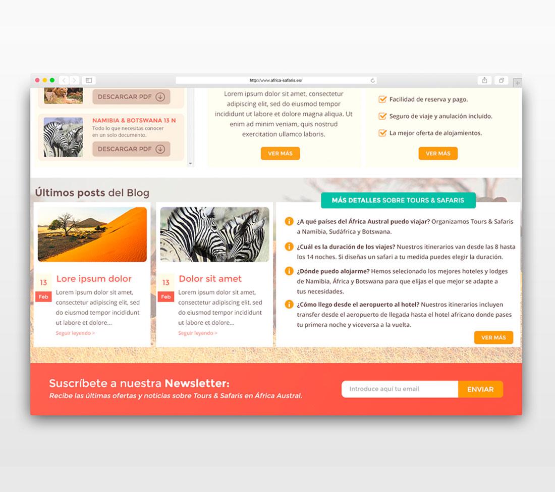 Diseño web África Safaris
