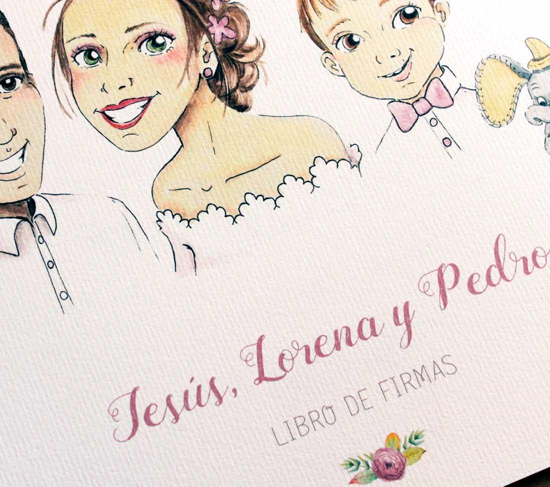 libro firmas boda lorena