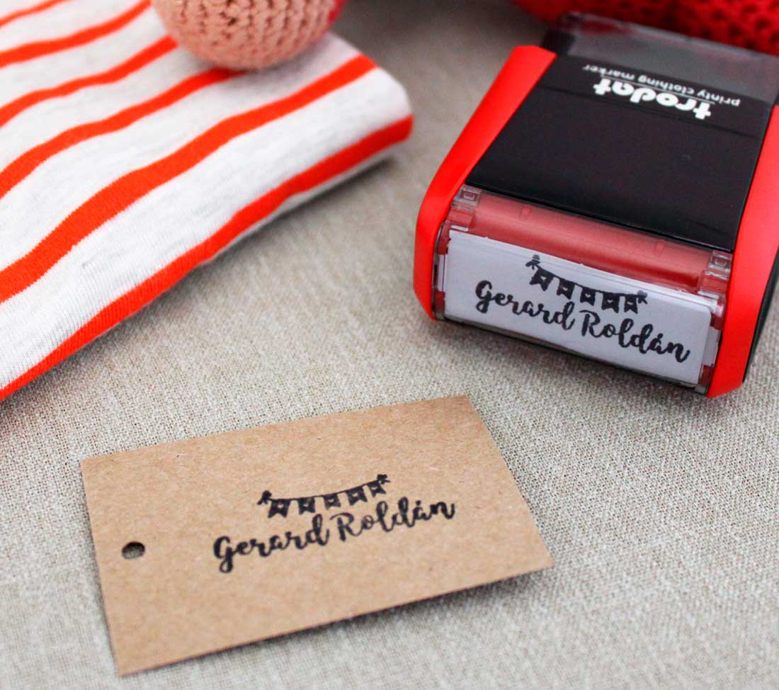Sello automatico para marcar ropa