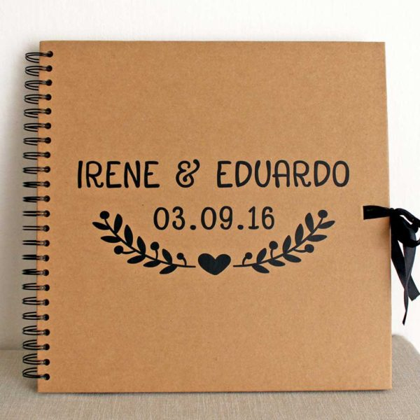 Libro firmas personalizado para boda