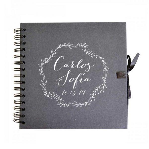libro firmas boda negro pizarra