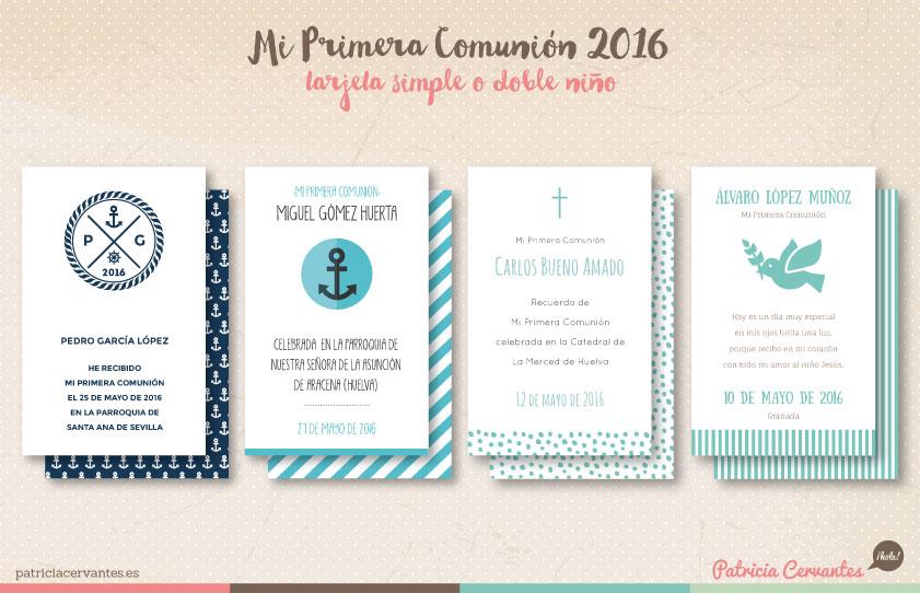 Recordatorios Primera Comunión 2016 | Patricia Cervantes