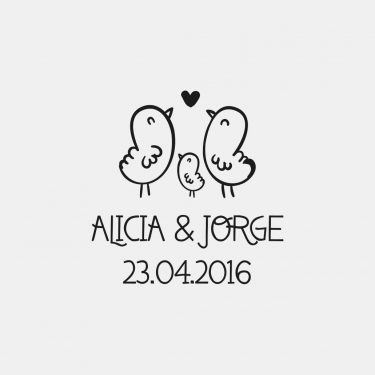 sello personalizado para bodas