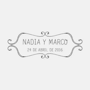 """sello personalizado para bodas """"emblema"""""""