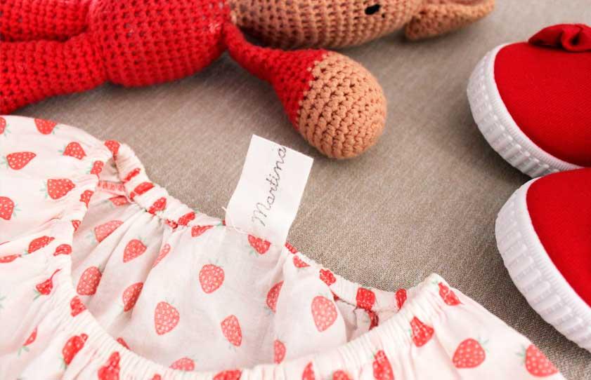 Sellos para marcar la ropa de los niños