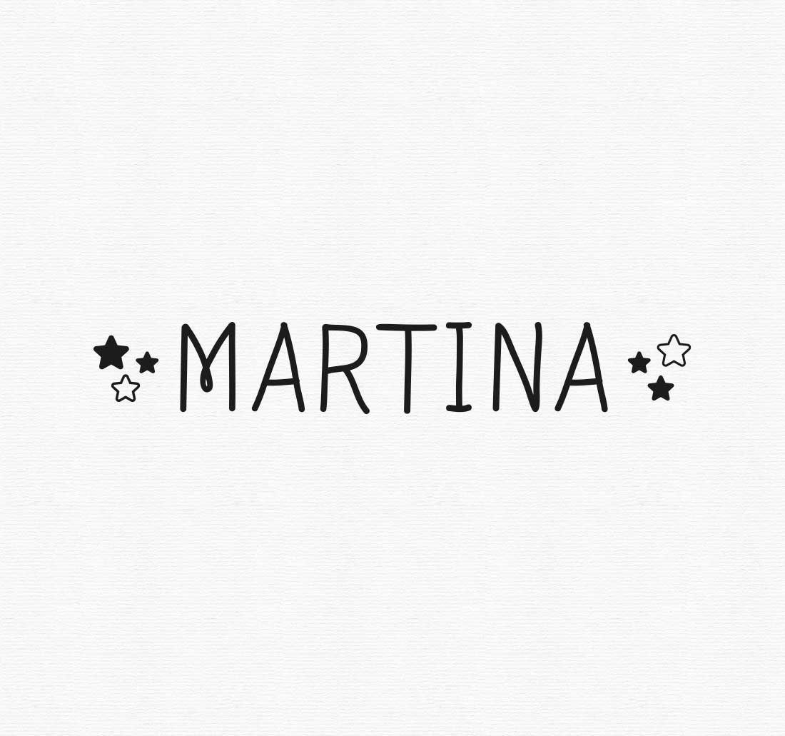 Vinilo personalizado con nombre six stars patricia for Vinilos personalizados