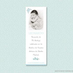 marcapaginas de bautizo