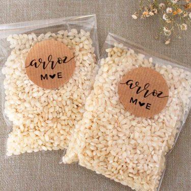 bolsitas de arroz personalizadas