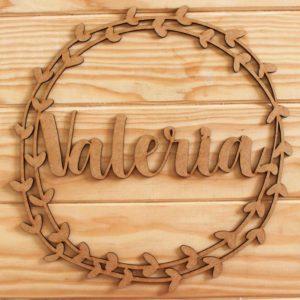 corona madera personalizada