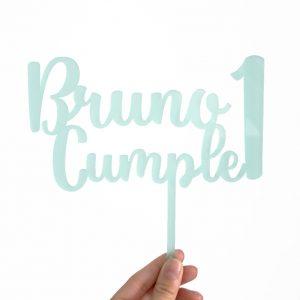 Cake Topper Cumpleaños Mint