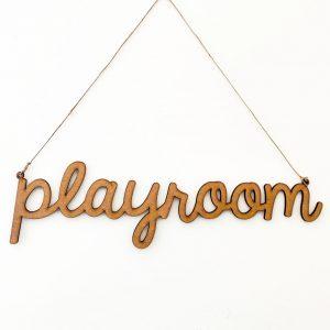 Letrero-Playroom