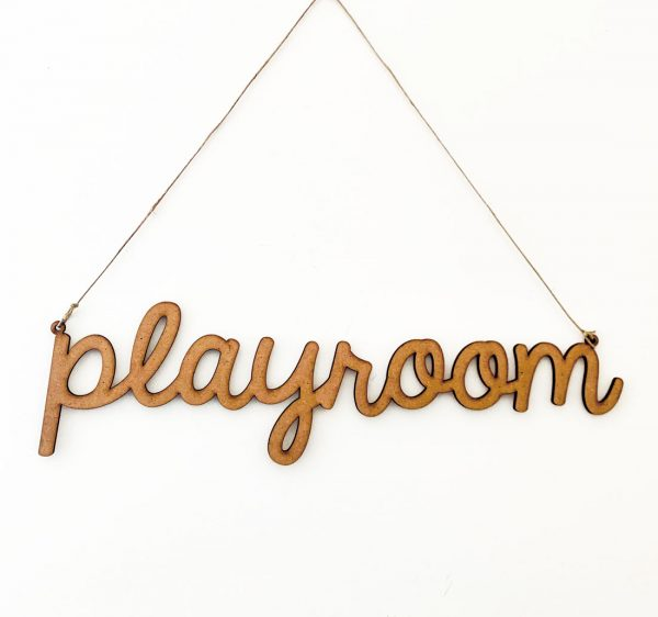 Letrero-Playroom