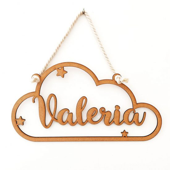 Nube de madera personalizada