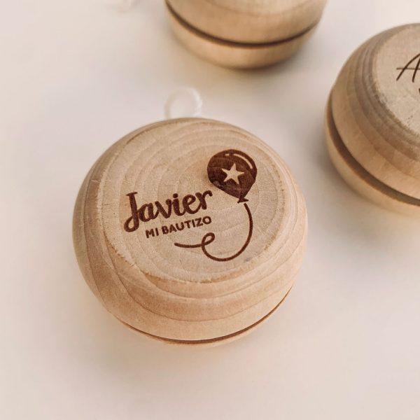 yoyó de madera personalizado
