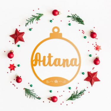 Decoracion Navidad Bola Deco Metacrilato
