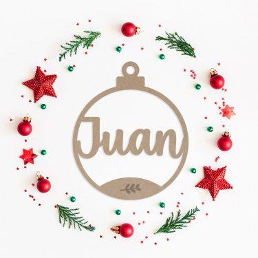 bola navidad personalizada ramita