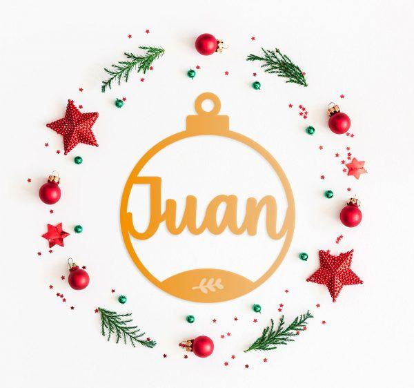 Decoracion Navidad Bola Ramita Metacrilato