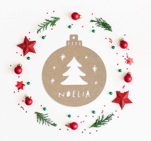 bola personalizada navidad arbol