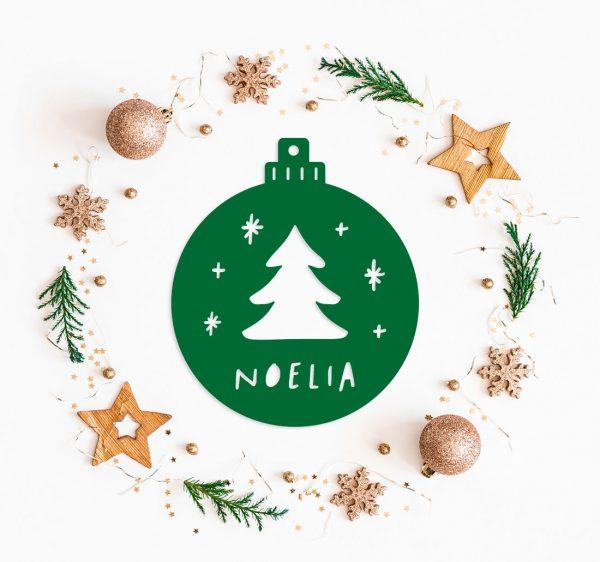 Decoracion Navidad Bola Troquelada Metacrilato Arbol