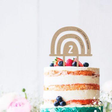 cake topper arco iris