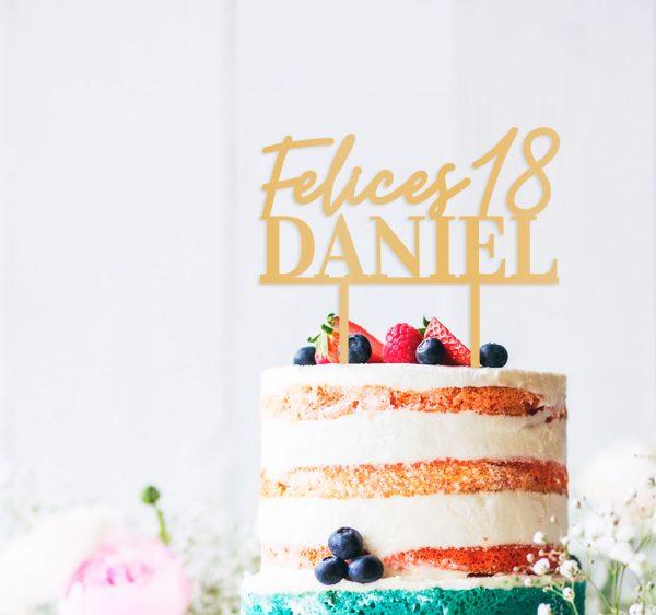cake topper personalizado felices edad