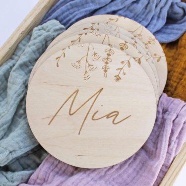 placa personalizada madera nombre