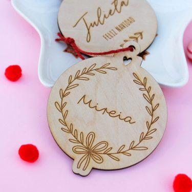 bola navidad personalizada corona floral