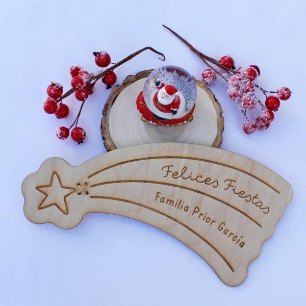 estrella fugaz personalizada arbol navidad