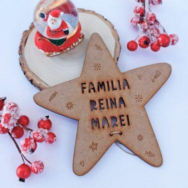 estrella arbol navidad troquelada