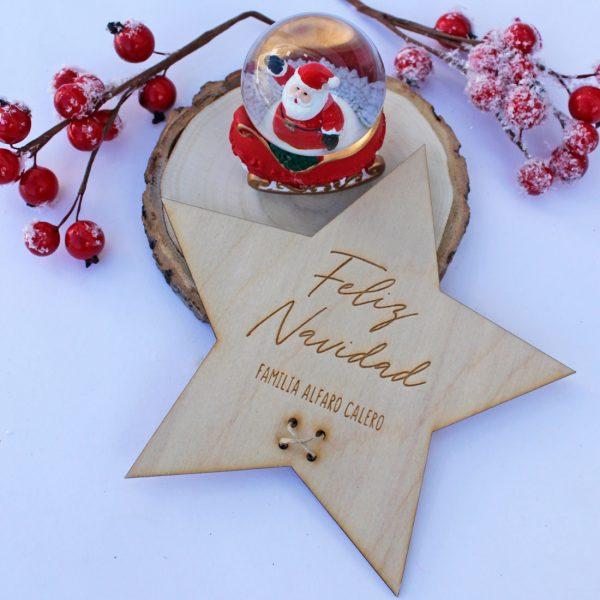 estrella personalizada arbol navidad